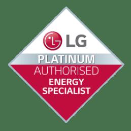 LG Platinum Authorised Energy Specialist Badge